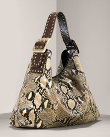 Bergdorf Goodman Online  - Be & D - Crawford Python Hobo, Large :  python fashion purse accessory