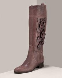 Bergdorf Goodman Online -Valentino-Floral Riding Boot