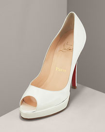 Black Peep Toe Pump by Louboutin     Manolo Likes!  Click!