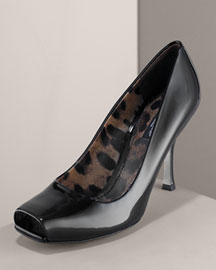 Dolce & Gabbana Patent Square-Toe Pump -  Shoes & Handbags -  Bergdorf Goodman