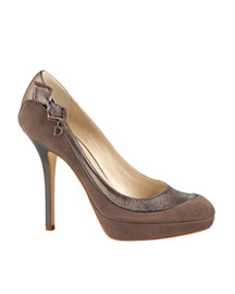 Dior Deco Pump -  Shoes & Handbags -  Bergdorf Goodman :  rounded toe platform pumps suede