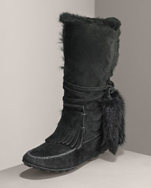 Yves Saint Laurent Babylone Kidskin Boot -  Tall and Midcalf -  Bergdorf Goodman