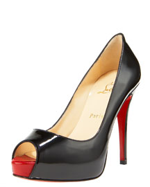 Christian Louboutin - Very Prive Patent Pump - Bergdorf Goodman :  pumps black pumps christian louboutin