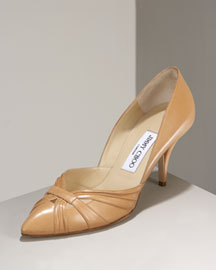 Jimmy Choo Lizzie Pierced-Toe Pump -  Natural Elements -  Bergdorf Goodman :  pumps fashion d orsay dorsay