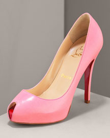 Christian Louboutin Covered Platform Peep-Toe Pump -  Fashion Collection -  Bergdorf Goodman