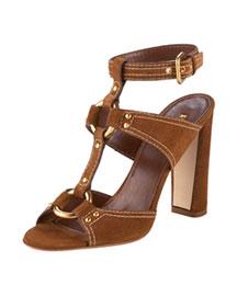 Prada Suede T-Strap Sandal- Accessories - Bergdorf Goodman