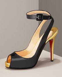 Christian Louboutin Patent Ankle-Wrap Pump- Shoes & Handbags- Bergdorf Goodman from bergdorfgoodman.com