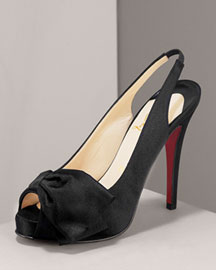 Christian Louboutin Very Noeud Knotted Satin Pump Shoes Bergdorf ...