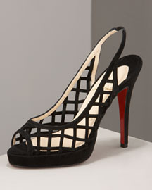 Christian Louboutin            Nuit Dete Slingback -   		Fashion Collection - 	Bergdorf Goodman from bergdorfgoodman.com