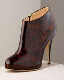 Guiseppe Zanotti Tortoise Patent Bootie- Booties - Bergdorf Goodman :  boot stiletto zanotti heels