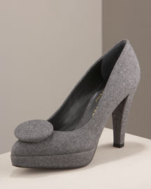 Bettye Muller Bonham Flannel Pump -  Shoes -  Bergdorf Goodman :  stiletto shoes womens shoes goodman