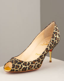 Christian Louboutin Leopard-Print Pump -  Pumps -  Bergdorf Goodman :  louboutin shoes women designers