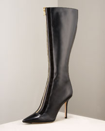 Jimmy Choo Tall Zip-Front Boot -  Shoes -  Bergdorf Goodman :  women gold bergdorf goodman