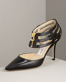 Jimmy Choo Ankle-Wrap d'Orsay -  d'Orsays -  Bergdorf Goodman :  black ankle heels shoes