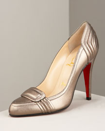Christian Louboutin Gattaca Padded Pump -  Fashion Collection -  Bergdorf Goodman :  chic heels shoes womens shoes