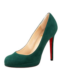 Christian Louboutin            Suede Pump -   		Fashion Collection - 	Bergdorf Goodman from bergdorfgoodman.com