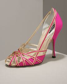 Dolce & Gabbana Cage-Toe Pump -  Shoes & Handbags  -  Bergdorf Goodman