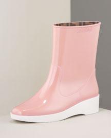 Fendi Ankle Rain Boot- Boots - Bergdorf Goodman :  chic designer rain boots bergdorf goodman