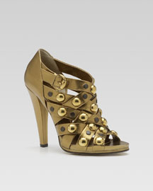 Gucci Babouska Studded Sandal -  Fall Collection -  Bergdorf Goodman :  babouska women apparel brand clothing women clothes