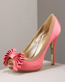 Valentino Layered-Bow Pump -  Shoes -  Bergdorf Goodman :  designer heels shoes nude