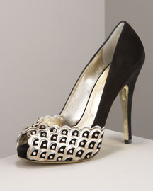 Valentino Jeweled Platform Pump -  Shoes -  Bergdorf Goodman :  platform shoes crystal scalloped
