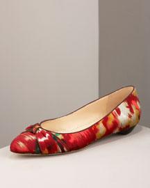 Oscar de la Renta Ikat Ballerina- Flats- Bergdorf Goodman