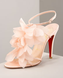 Christian Louboutin            Petal Sandal -   		Resort Collection - 	Bergdorf Goodman