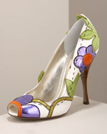 Dolce & Gabbana Floral Vine Pump -  Brights -  Bergdorf Goodman :  women collection designer handbag chic