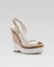 Gucci Kotao Wedge Sandal -  Shoes -  Bergdorf Goodman  :  wedges gucci