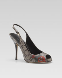 Gucci Tattoo Heart Slingback -  Cruise Collection -  Bergdorf Goodman