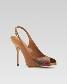 Tattoo Heart Slingback Sandal -  Bergdorf Goodman :  natural heart leather goods italy