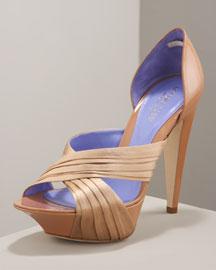 Sergio Rossi Platform d'Orsay- Neutrals- Bergdorf Goodman