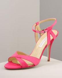 Stella McCartney Strappy Sandal- Heel- Bergdorf Goodman