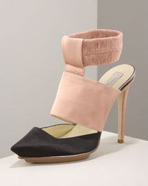 Stella McCartney Two-Tone Pump -  Stacked Heels -  Bergdorf Goodman from bergdorfgoodman.com