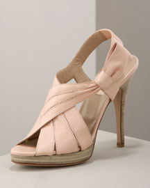 Valentino Platform Wrap Sandal -  Neutrals -  Bergdorf Goodman :  women bergdorf goodman collection designer handbag