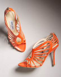 Jimmy Choo Patent Cage Sandal -  Shoes -  Bergdorf Goodman  :  sandals jimmy choo