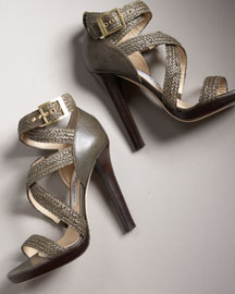 Jimmy Choo Crisscross Platform Sandal -  Shoes -  Bergdorf Goodman