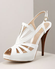 Fendi Patent Sandal -  Shoes -  Bergdorf Goodman  :  fendi sandals