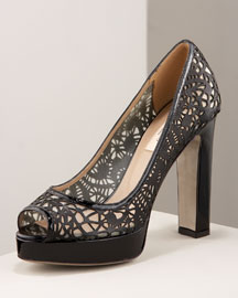 Valentino Cutout Pump -  Glam Rocker -  Bergdorf Goodman :  cutout pump glam cutout goodman