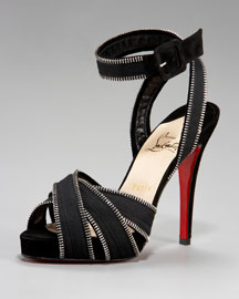 Bergdorf Goodman - Shoe Salon - Shoes - Christian Louboutin - Fall Collection :  chic biker chic platforms shoes