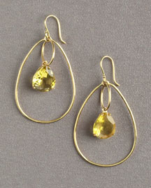 Ippolita Green-Gold Topaz Drop Earrings -  Dangle -  Bergdorf Goodman