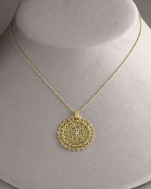 Jill Alberts Medallion Necklace, Yellow Gold -  Necklaces -  Bergdorf Goodman