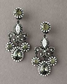 Jose & Maria Barrera Crystal Drop Earrings -  Jose & Maria Barrera -  Bergdorf Goodman :  fashion accessory fashion accessories designer jewelry