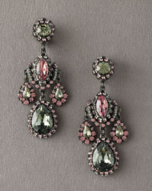 Jose & Maria Barrera Crystal Drop Earrings- Drop- Bergdorf Goodman