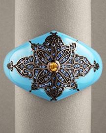 Matthew Campbell Laurenza Enamel Cuff Bracelet, Wide- New Arrivals- Bergdorf Goodman