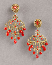 Jose & Maria Barrera Crystal & Agate Chandelier Earrings -  Jose & Maria Barrera -  Bergdorf Goodman :  fashion accessory fashion accessories designer jewelry