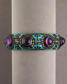 MCL by Matthew Campbell Laurenza Amethyst & Sapphire Cuff -  MCL by Matthew Campbell Laurenza -  Bergdorf Goodman :  jewelry fashion accessory cuff bracelets cuffs
