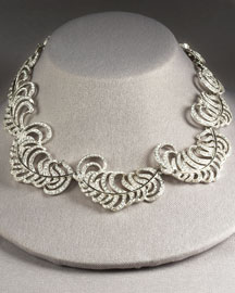 Kenneth Jay Lane Leaf Necklace -  New Arrivals -  Bergdorf Goodman