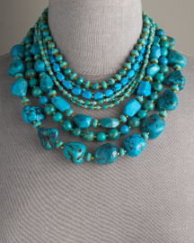 Jose & Maria Barrera Multi Strand Turquoise Necklace -  New Arrivals -  Bergdorf Goodman