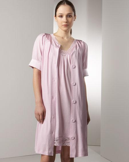 La Perla - Lingerie - Bergdorf Goodman :  cotton-modal affinita chemise batticuor coat la perla